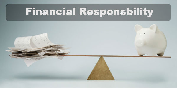 financial responsibility with tax advances is a must